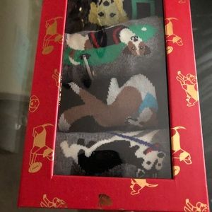 Neiman Marcus Tip dog socks men's NEW IN BOX